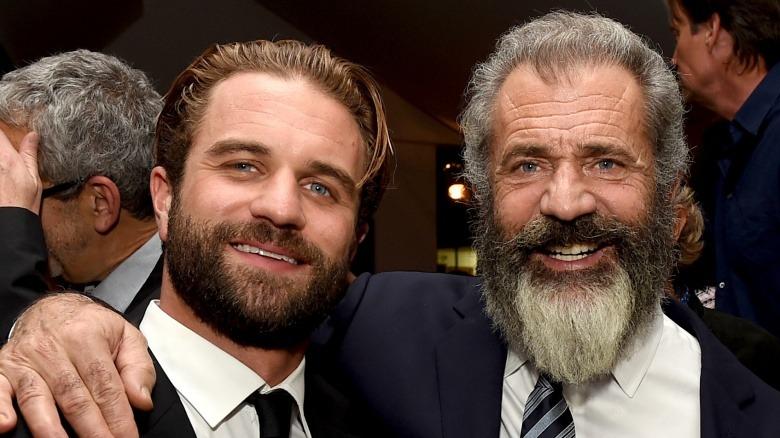 Milo Gibson and Mel Gibson