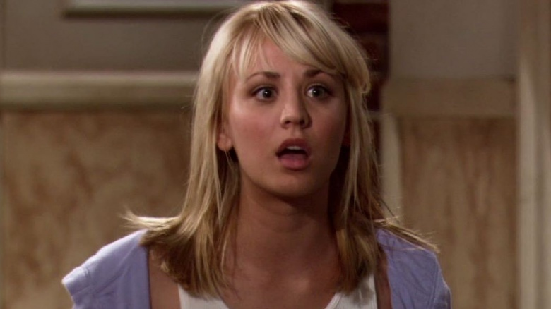 Image result for kaley cuoco weird face