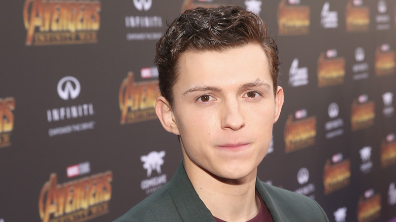 Tom Holland at Infinity War premiere