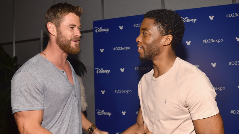 Chris Hemsworth and Chadwick Boseman