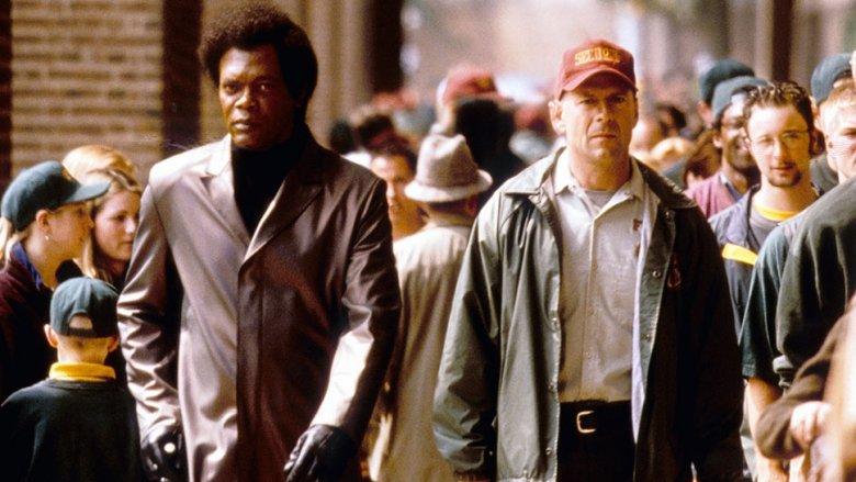 Samuel L. Jackson and Bruce Willis in Unbreakable