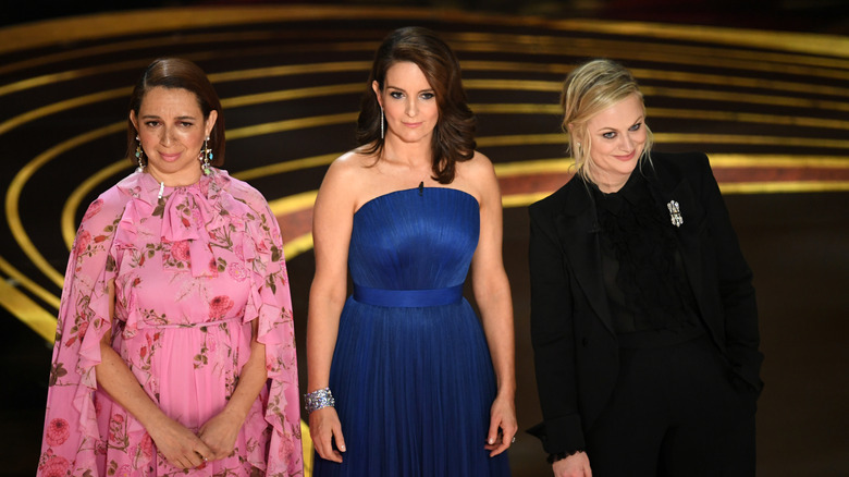Tina Fey, Amy Poehler, and Maya Rudolph.