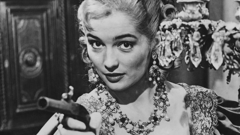 Barbara Shelley in period costume, 1955
