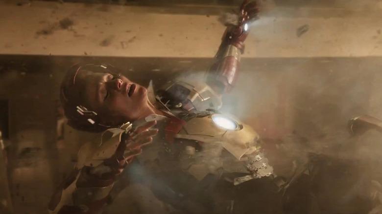 Pepper Potts in Iron Man armor
