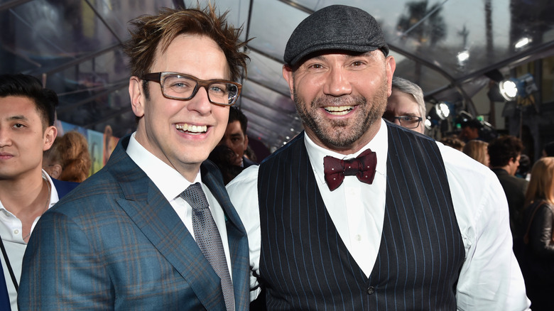 James Gunn with Dave Bautista