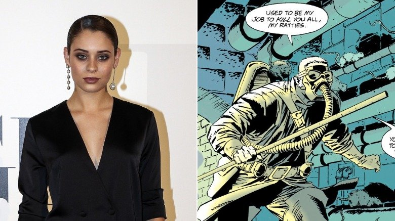Split image on Daniela Melchior and the male Ratcatcher of DC Comics