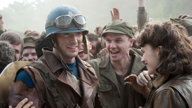 Captain American and Peggy Carter in Captain America: The First Avenger
