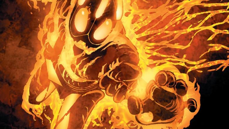 Fire Elemental Man