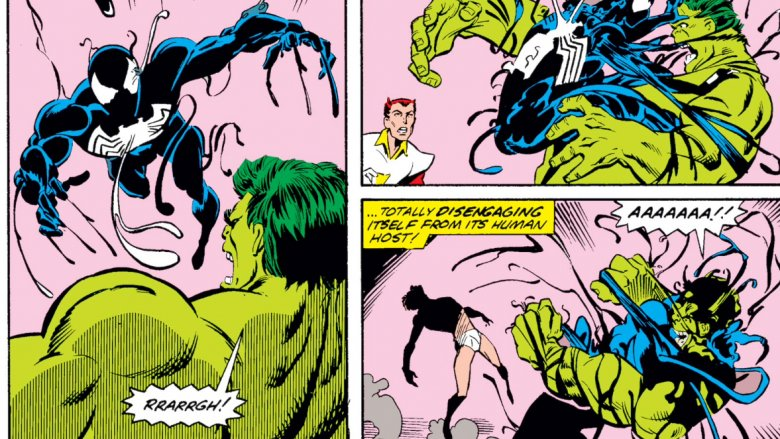 The symbiote abandoning Peter Parker's body for the Hulk's in 1989's What If? #4