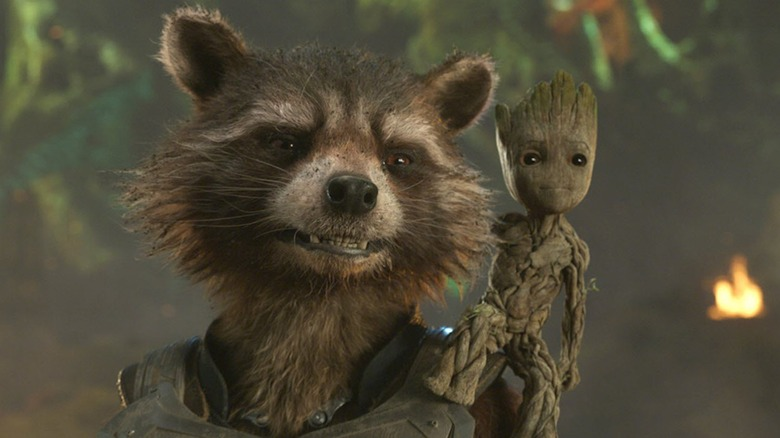 Rocket and Groot in Guardians of the Galaxy Vol. 2