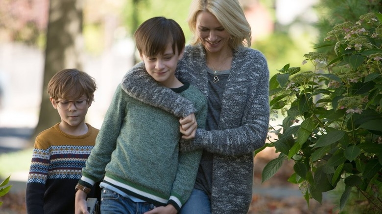 Naomi Watts, Jaeden Lieberher, and Jacob Tremblay in The Book of Henry