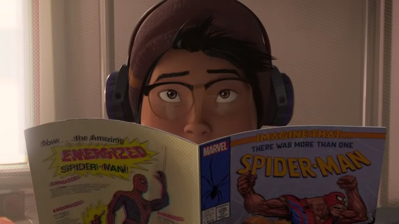 Imagine that/What if? comic reference in Spider-Man: Into the Spider Verse