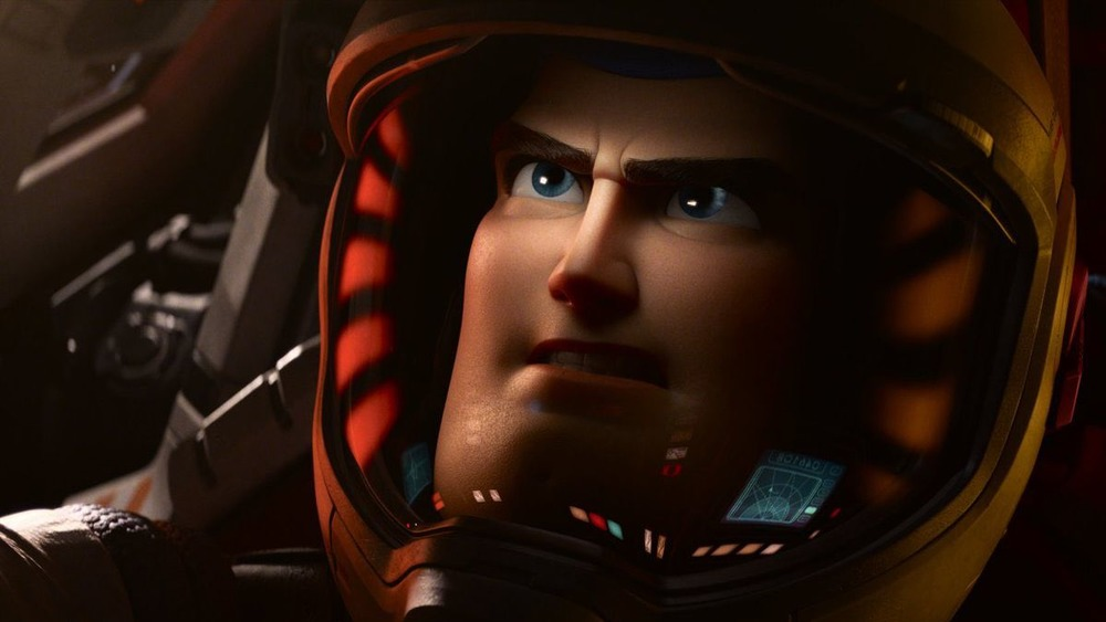 Buzz Lightyear looks worried