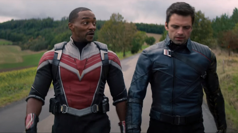 Falcon and Winter Soldier walking