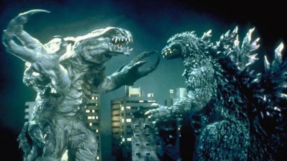 Orga and Godzilla in Godzilla 2000: Millennium