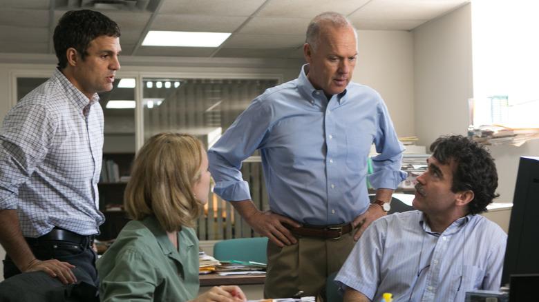 Mark Ruffalo, Michael Keaton, Rachel McAdams in Spotlight