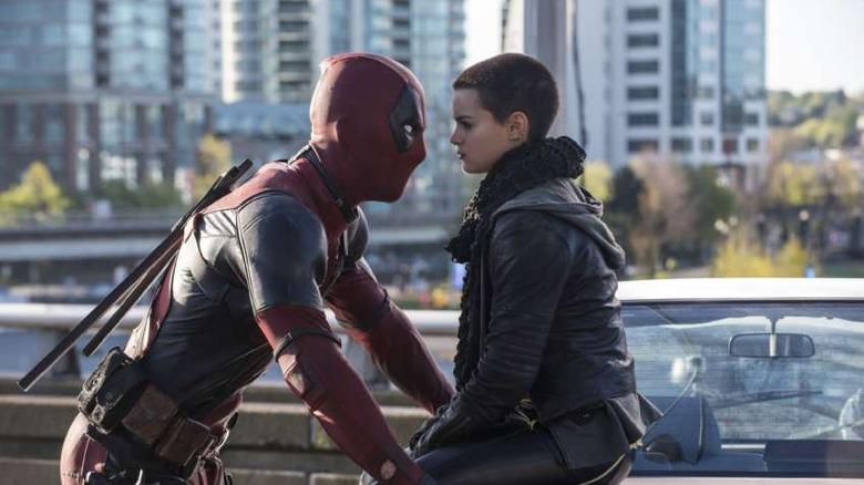 Ryan Reynolds and Brianna Hildebrand in Deadpool