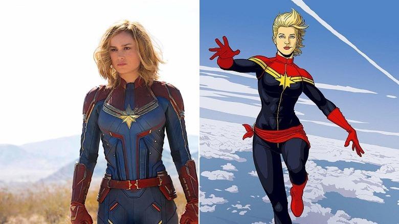 Brie Larson as Captain Marvel/Art by Jamie McKelvie