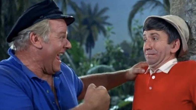 Alan Hale Jr. and Bob Denver in Gilligan's Island