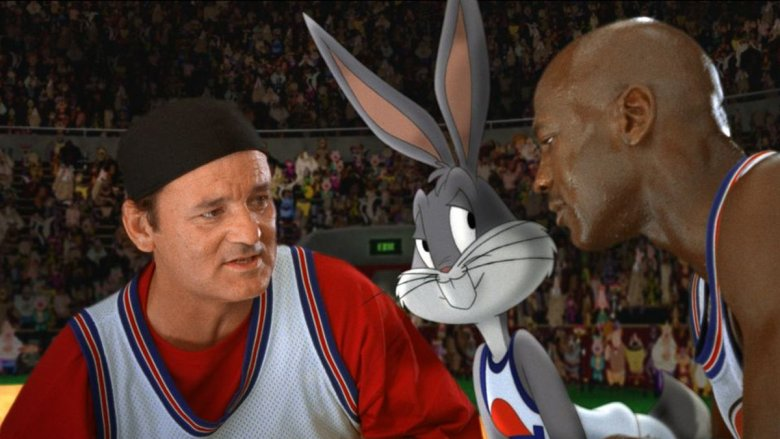 Bill Murray and Michael Jordan in Space Jam