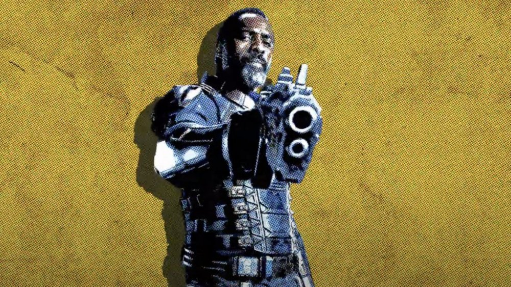 Idris Elba as Bloodsport in a promo image for The Suicide Squad