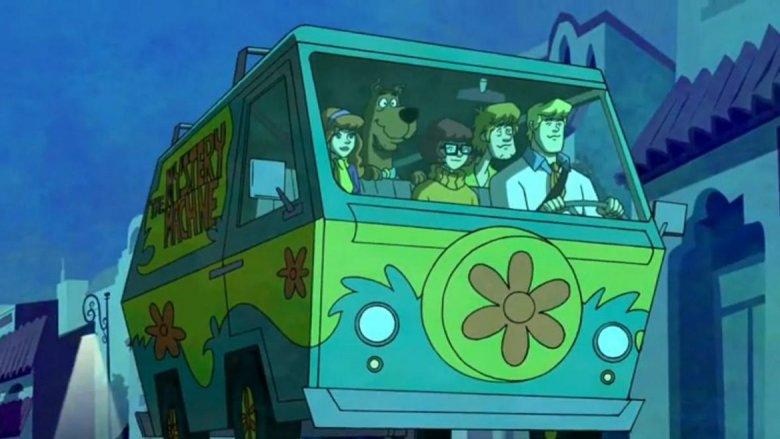 The Scooby Gang in the Mystery Machine