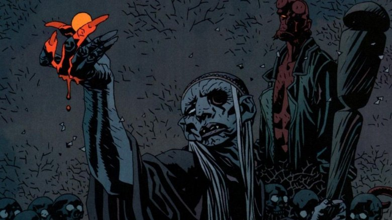 Hellboy giving Baba Yaga his eye