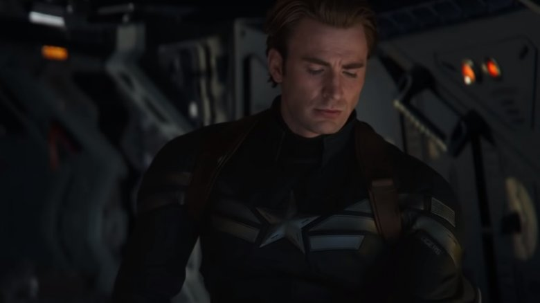 Captain America in Winter Soldier outfit in Avengers: Endgame