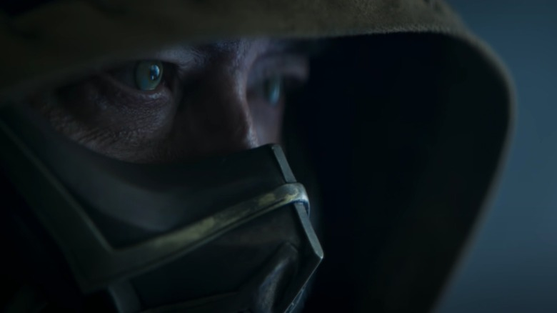 Close-up of Scorpion's eyes