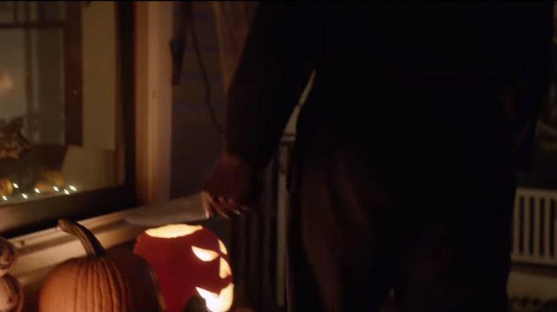 Michael and jack o'lantern