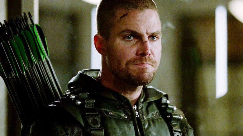 "Stephen Amell as Oliver Queen/Green Arrow in ""Arrow"""