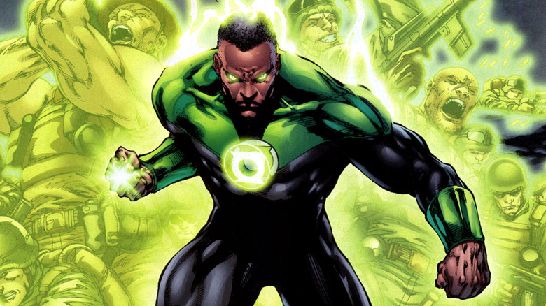 "John Stewart/Green Lantern by Ed Benes from ""Green Lantern #49"""