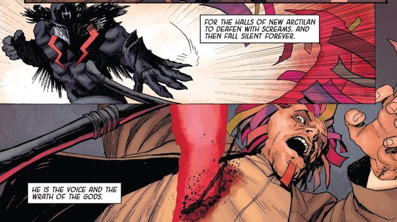 Vox killing Flagman in Death of the Inhumans #1