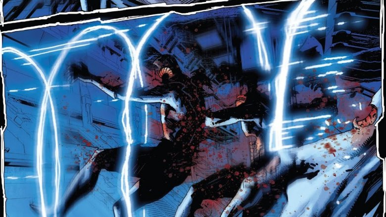 The turned Inhumans being killed by Black Bolt from Death of The Inhumans #5