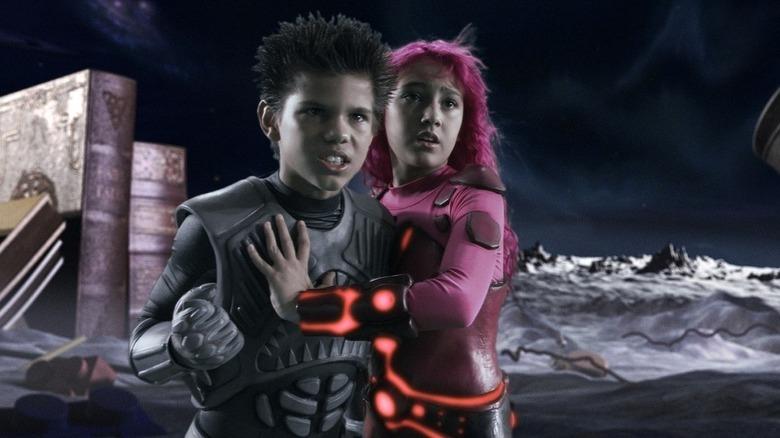 Taylor Lautner as Shark Boy with Lava Girl