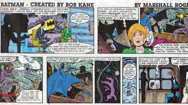 Batman comic strip