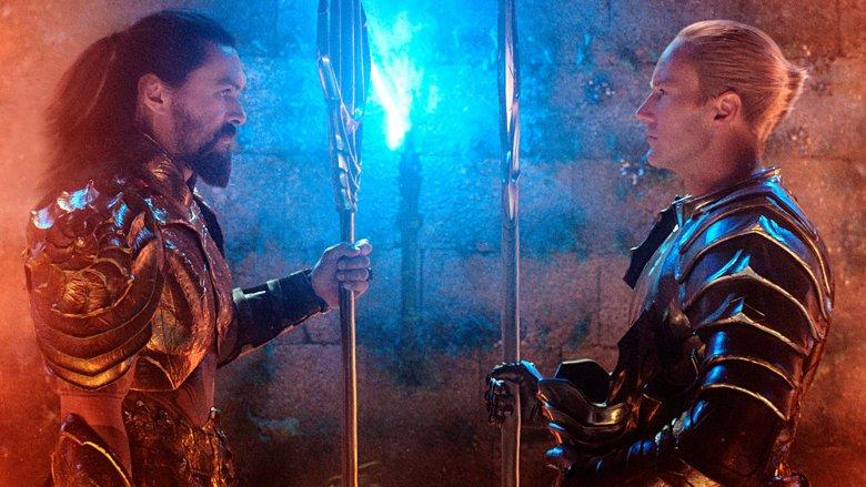 Jason Momoa and Patrick Wilson in Aquaman