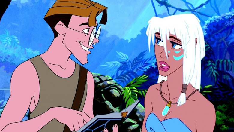 Milo Thatch and Princess Kida