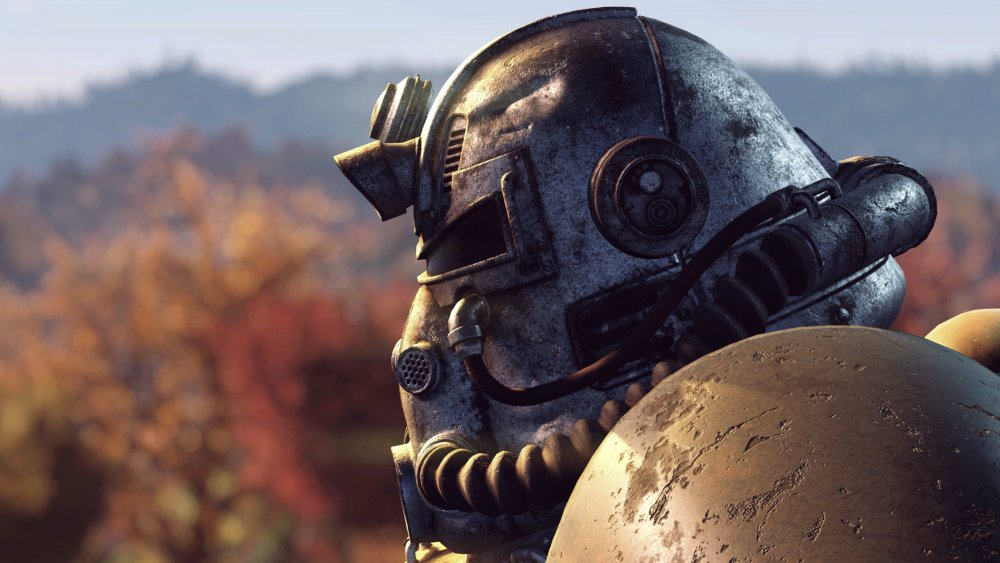 A character from Fallout 76 in Power Armor