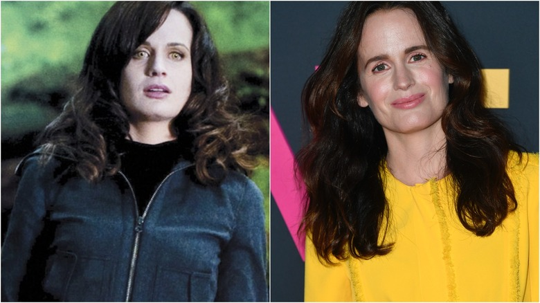 Elizabeth Reaser in Twilight (L) and at a 2019 press event (R)