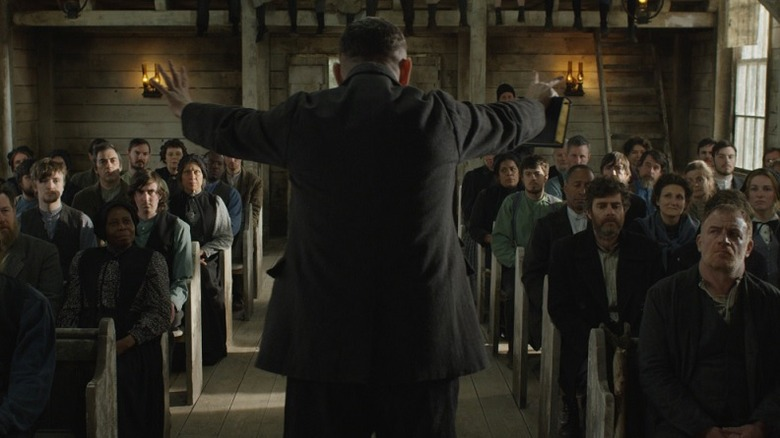 Malcolm and his congregation in Apostle