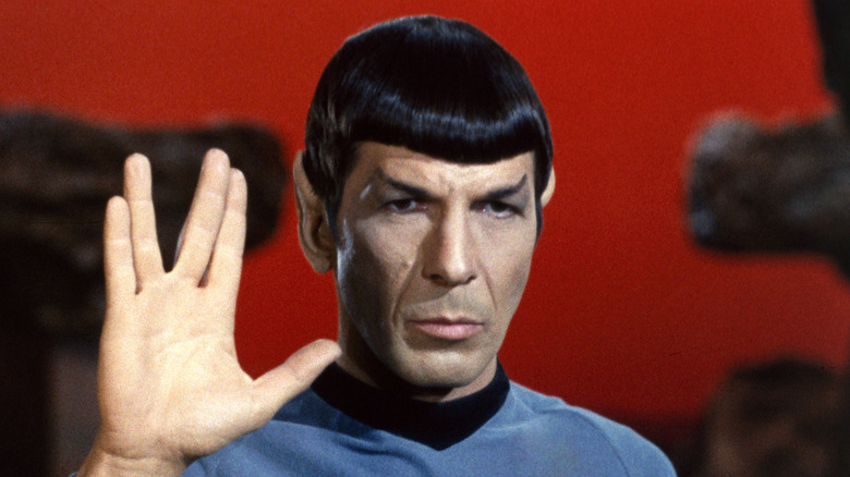 Spock salutes