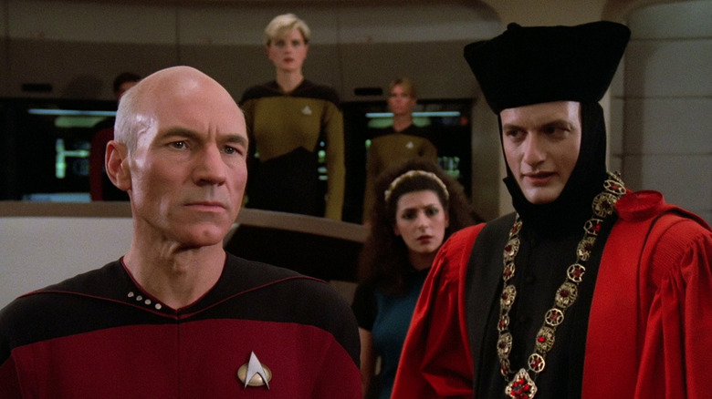 Picard and Q talking