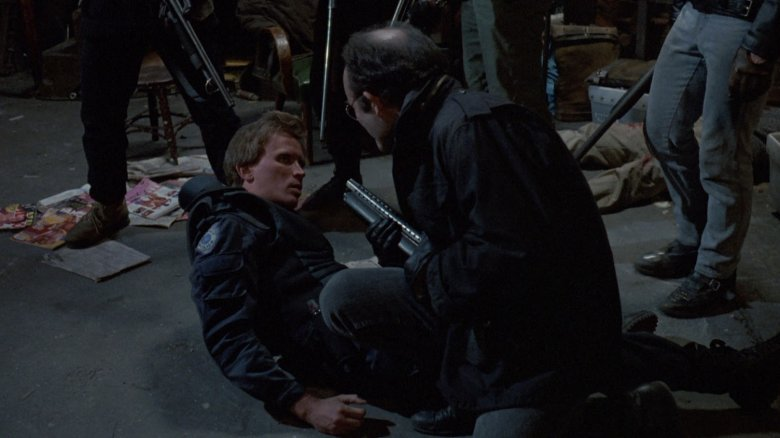 Peter Weller and Kurtwood Smith in RoboCop