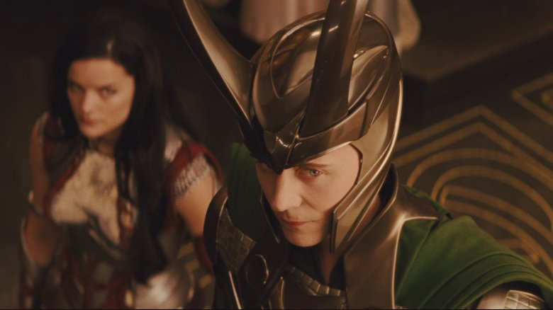 Tom Hiddleston and Jamie Alexander in Thor