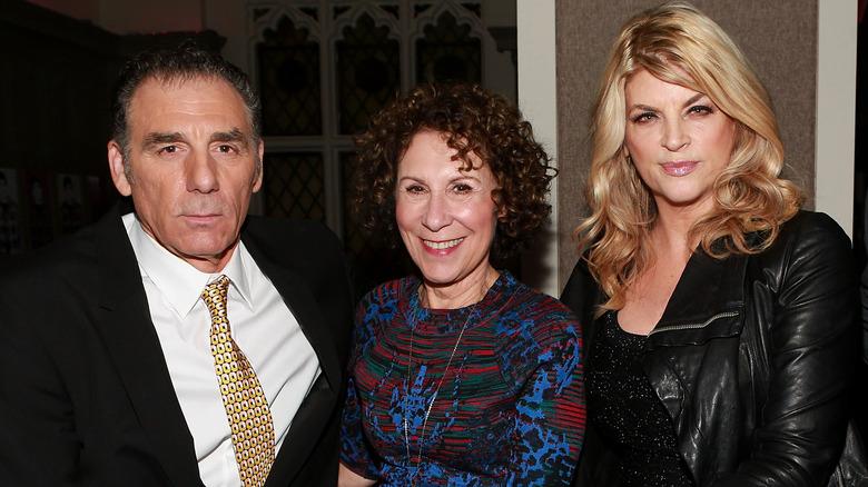Michael Richards, Rhea Perlman, and Kirstie Alley