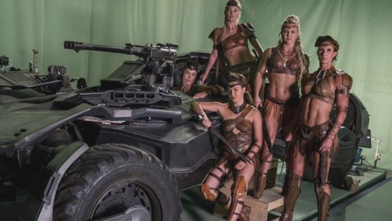 Amazons on the set of Justice League