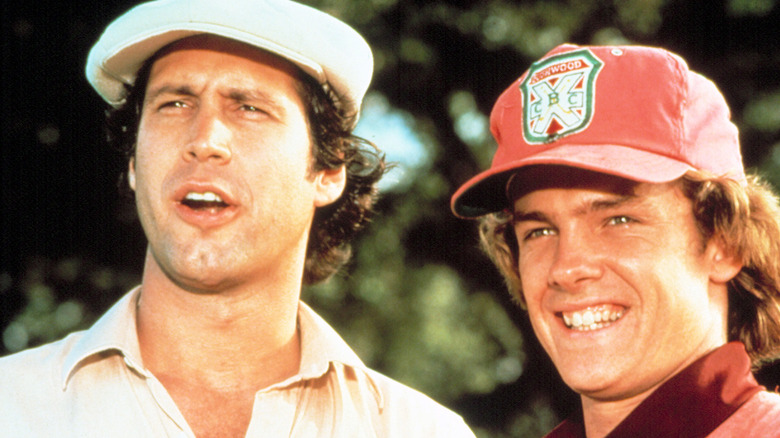 Michael O'Keefe and Chevy Chase