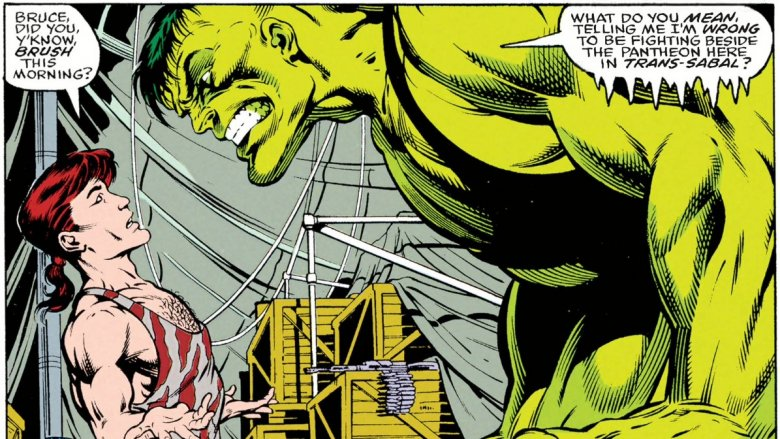 The Professor Hulk about to snap in 1992's Incredible Hulk #391