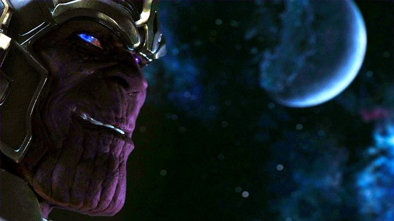 The profile of Thanos from the mid-credits scene of Avengers